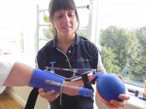Using SaeboFlex to help a stroke patient regain arm and hand movement